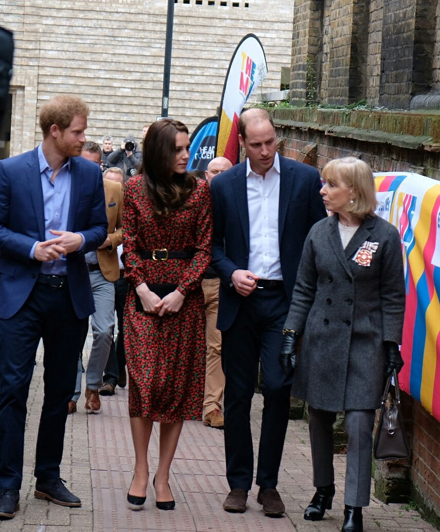 The Duke and Duchess of Cambridge and Prince Henry of Wales today attended the Mix's Volunteer Christmas Party