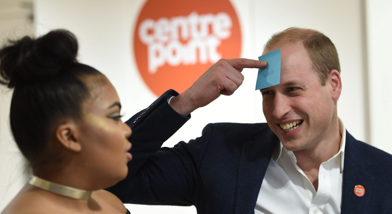 The Duke of Cambridge, Patron, visited Centrepoint Ealing
