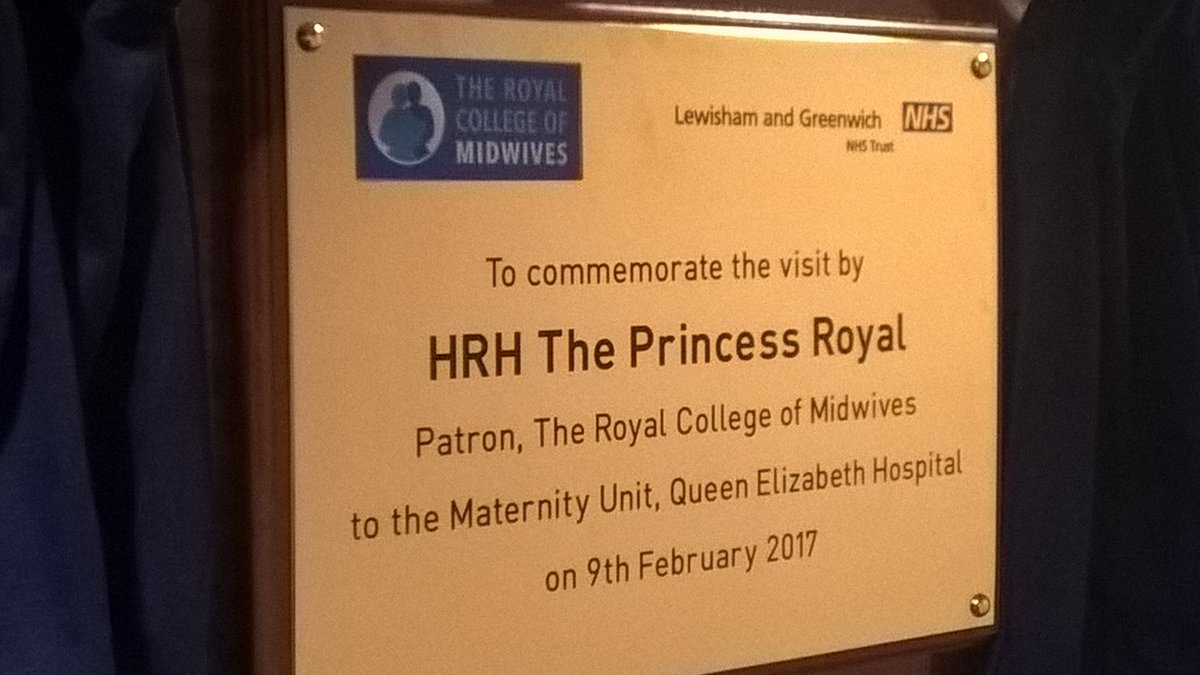 The Princess Royal visited the Lewisham and Greenwich NHS Trsut Maternity Unit, SE18
