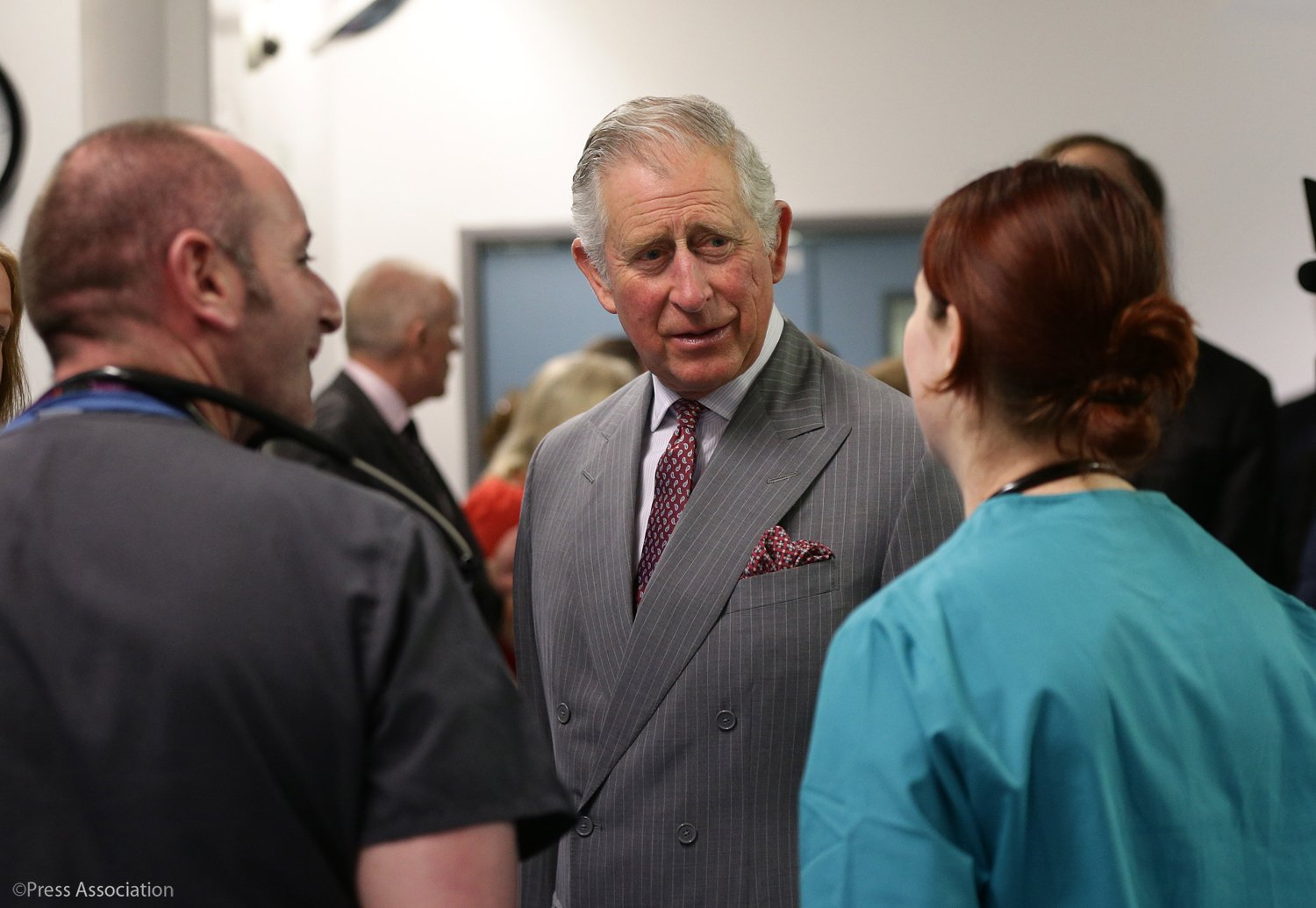 The Prince of Wales met victims of the London terrorist attack