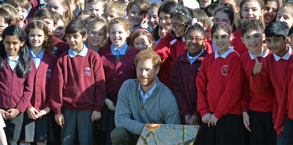 Prince Henry of Wales visited The Queen's Commonwealth Canopy project