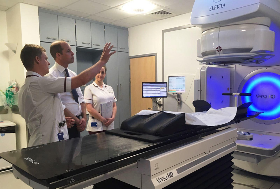 The Duke of Cambridge visited the Royal Marsden Hospital
