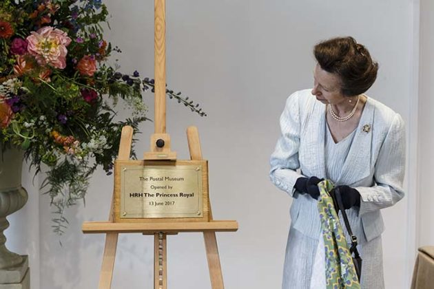 The Princess Royal, opened the Postal Museum, Calthorpe House
