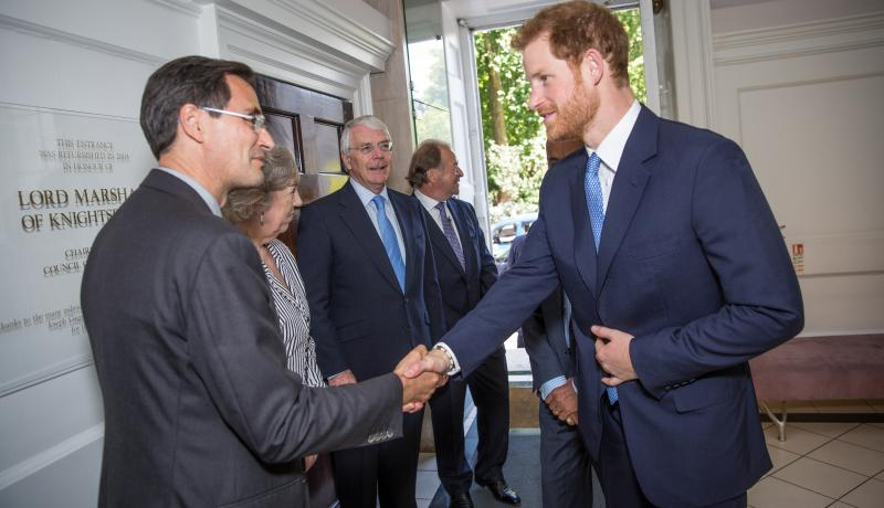 Prince Henry of Wales opened the Stavros Niarchos Foundation floor