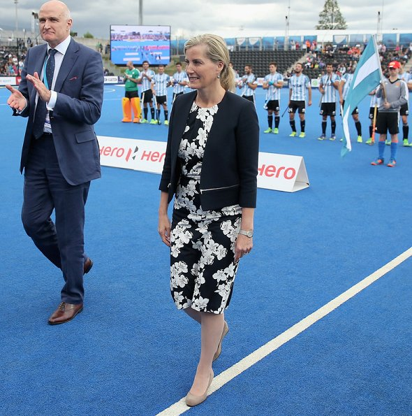 The Countess of Wessex attended the Men's World Hockey Finals