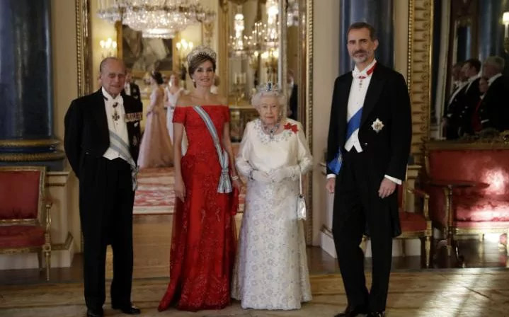 The Queen and The Duke of Edinburgh gave a State Banquet this evening in honour of The King and Queen of Spain