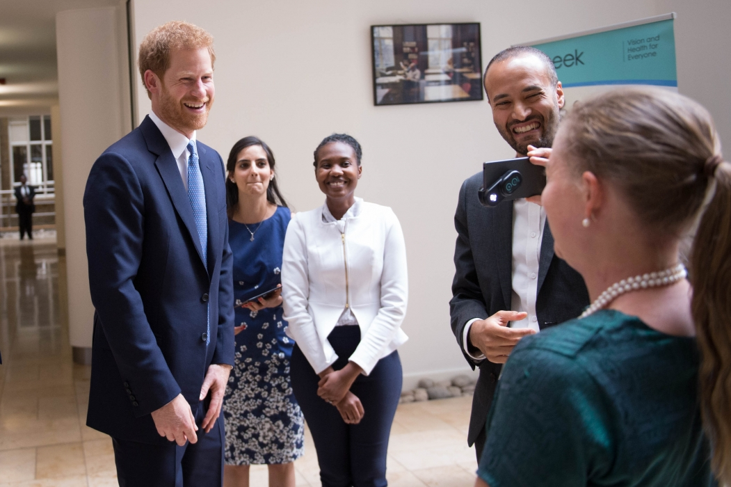 Prince Henry of Wales attended a roundtable discussion at the London School of Hygiene and Tropical Medicine