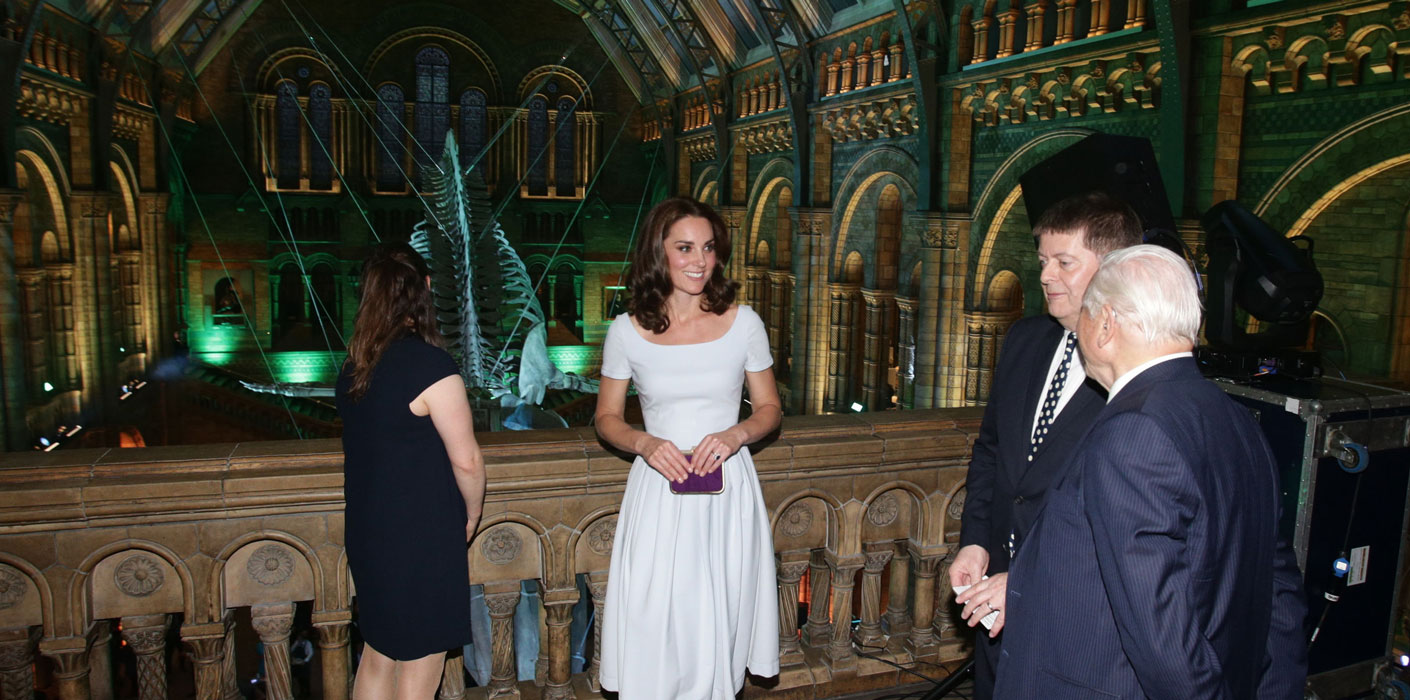 The Duchess of Cambridge officially opened the new Hintze Hall at the Natural History Museum