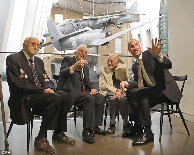 The Duke of Cambridge vists the Imperial War Museum