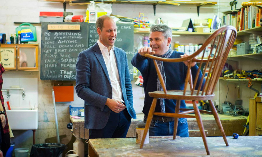 The Duke of Cambridge visited a number of locations managed by Spitalfields Crypt Trust