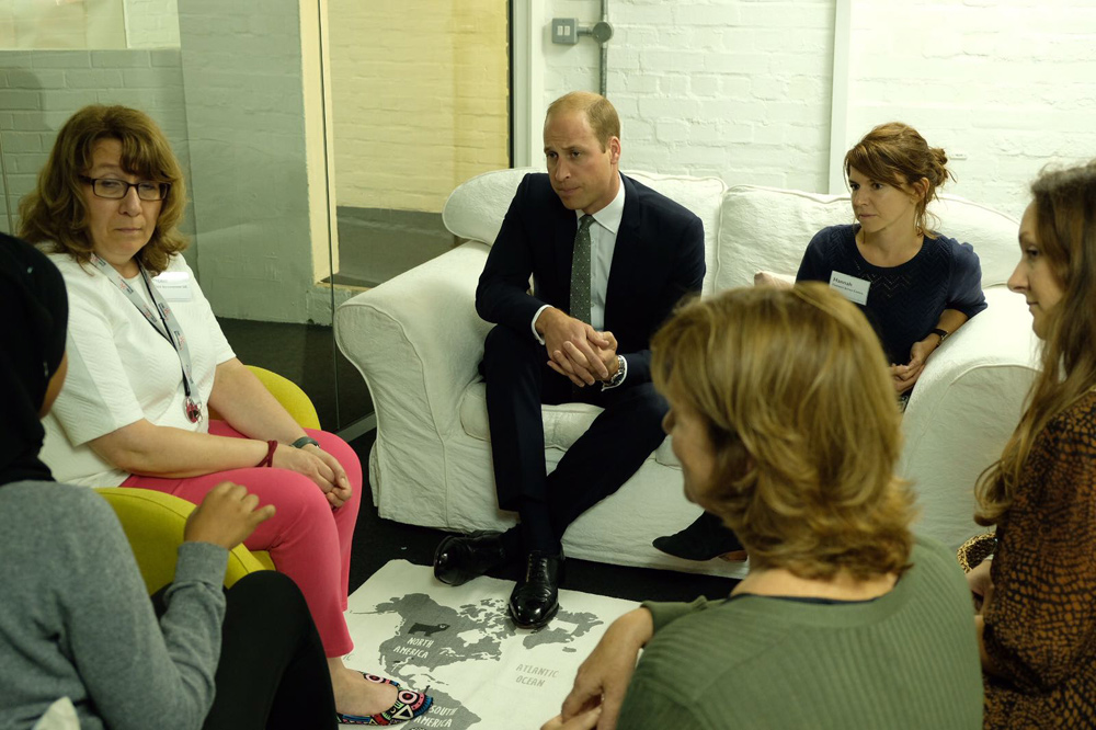 The Duke of Cambridge and Prince Henry of Wales visited the Support4Grenfell Hub