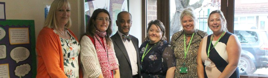 The Lord-Lieutenant attends school visit with SHS