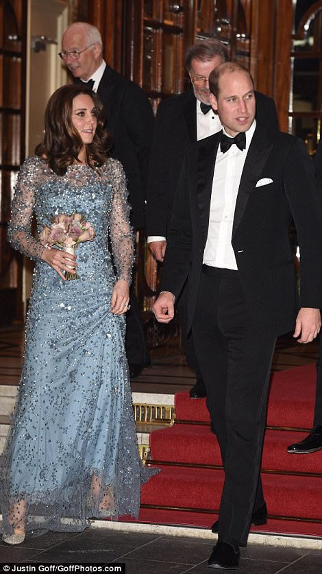 The Duke and Duchess of Cambridge attends the Royal Variety Performance.