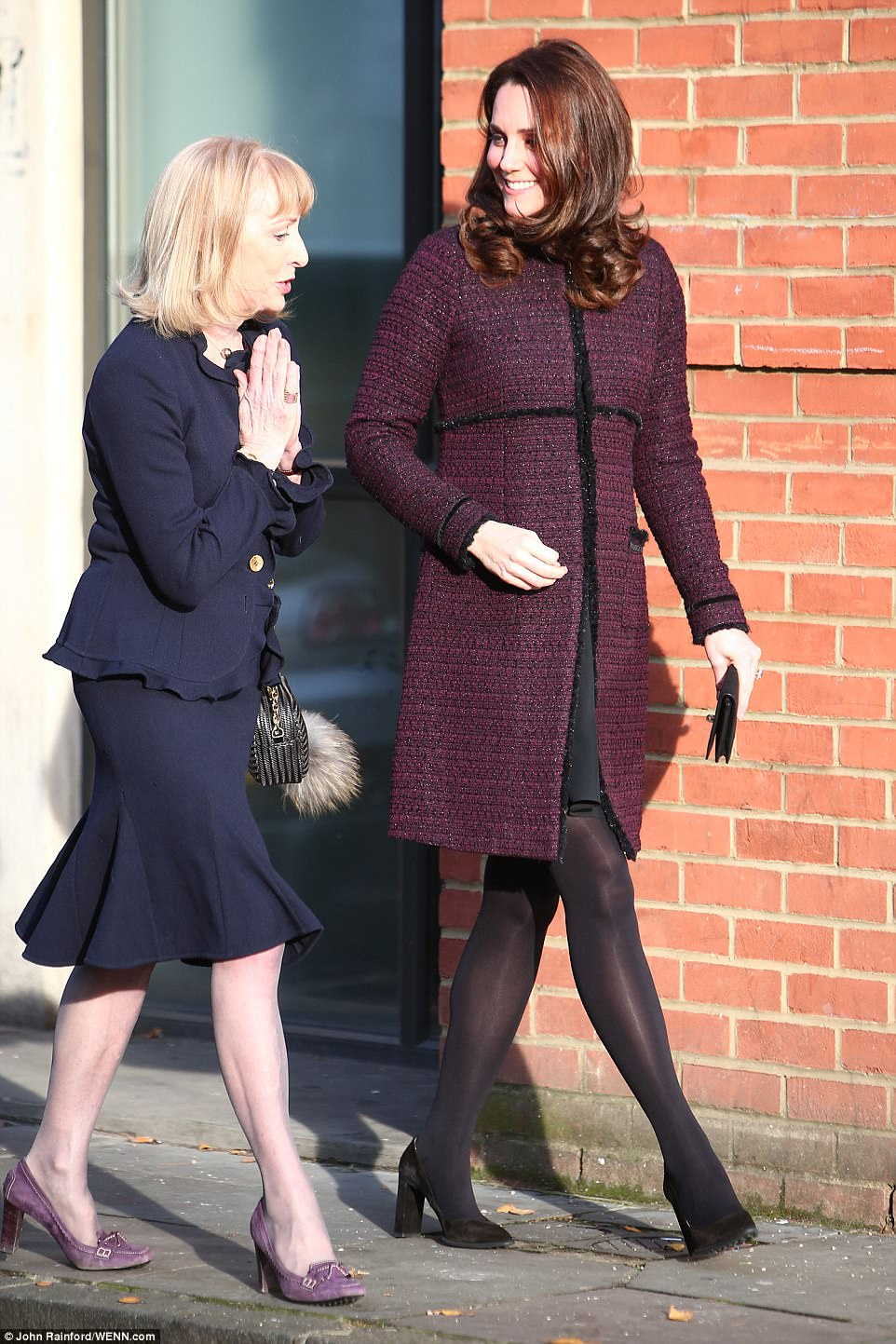 The Duchess of Cambridge vists the Rugby Portobello Trust