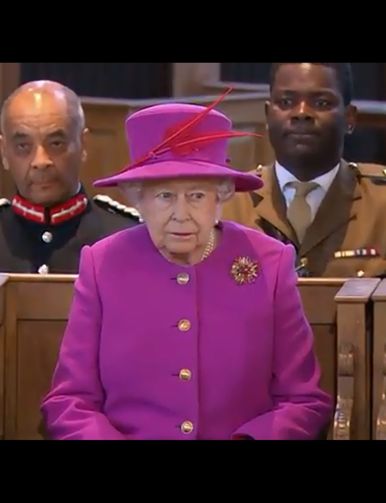 Her Majesty The Queen attends a Service at St Mary's Church