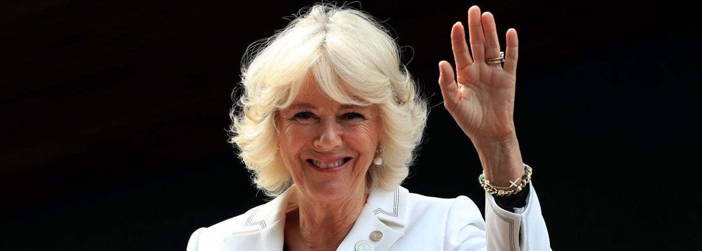 The Duchess of Cornwall visits the Fine Cell Work Clothworkers Studio