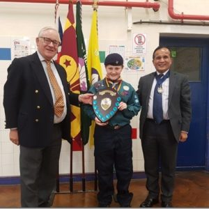 20190620 - Martin presents awards at the 19th Hendon Scout Group AGM