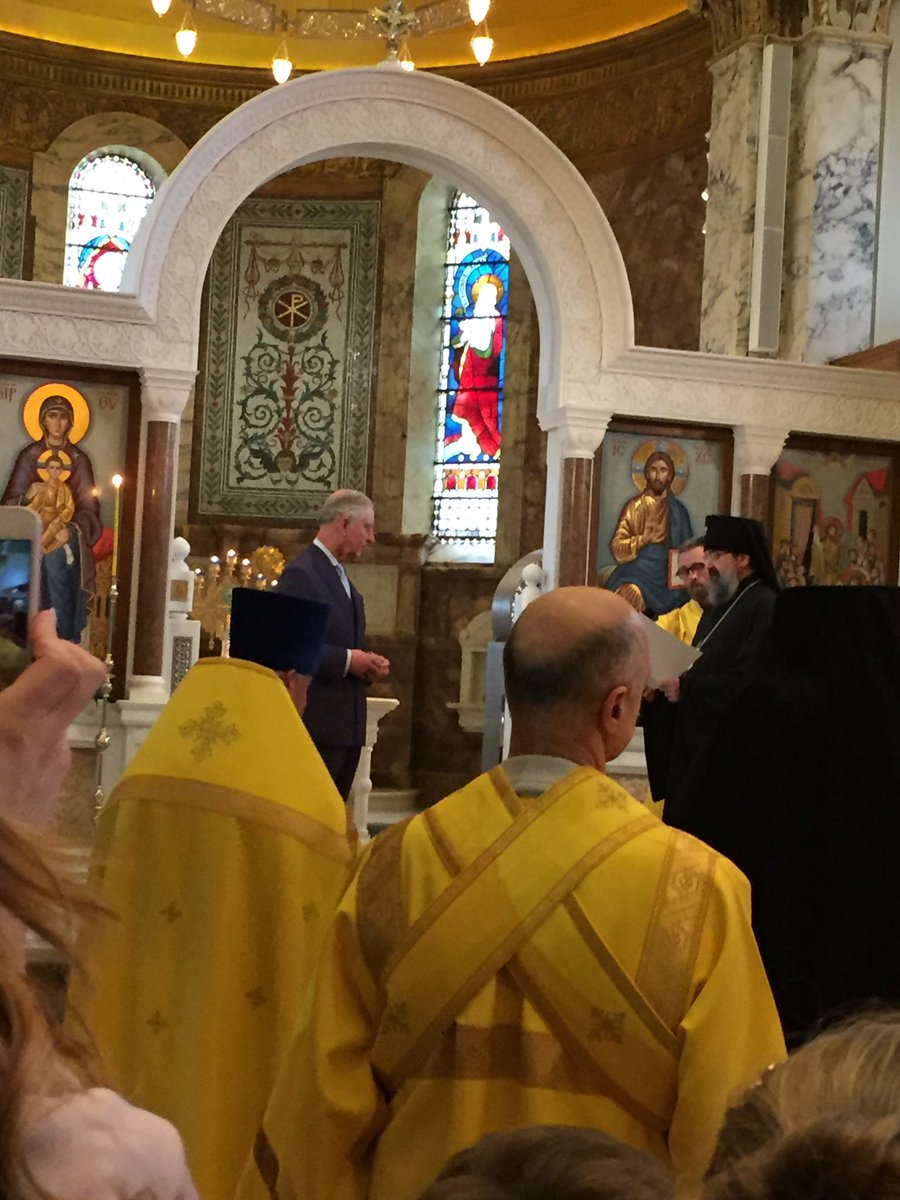 The Prince of Wales visited the Russian Orthodox Cathedral