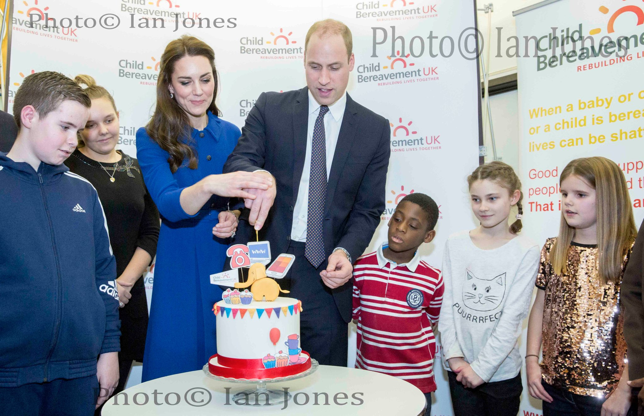 The Duke of Cambridge, Patron, Child Bereavement UK, together with the Duchess of Cambridge, visited Child Bereavement UK Centre