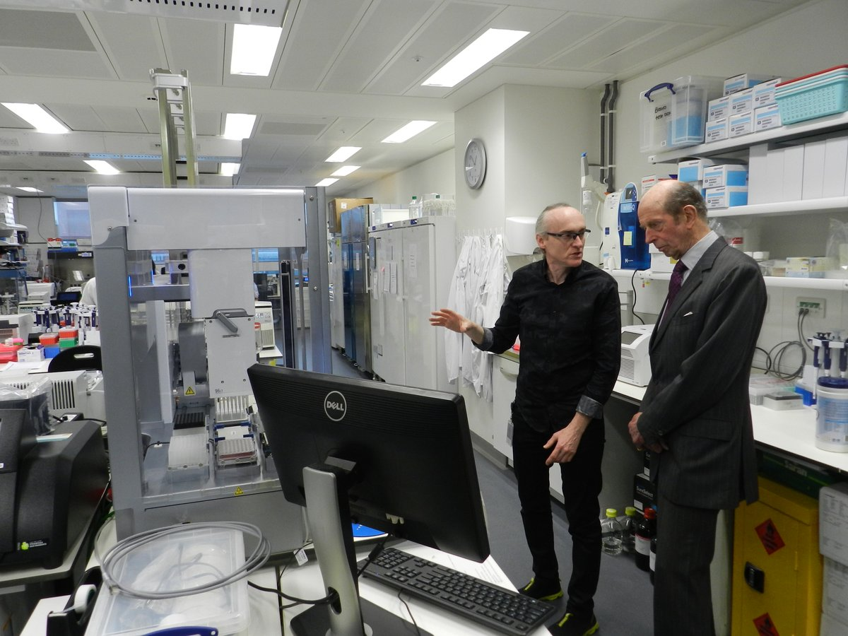 The Duke of Kent today visited the Francis Crick Institute and was received by Prof David Phoenix