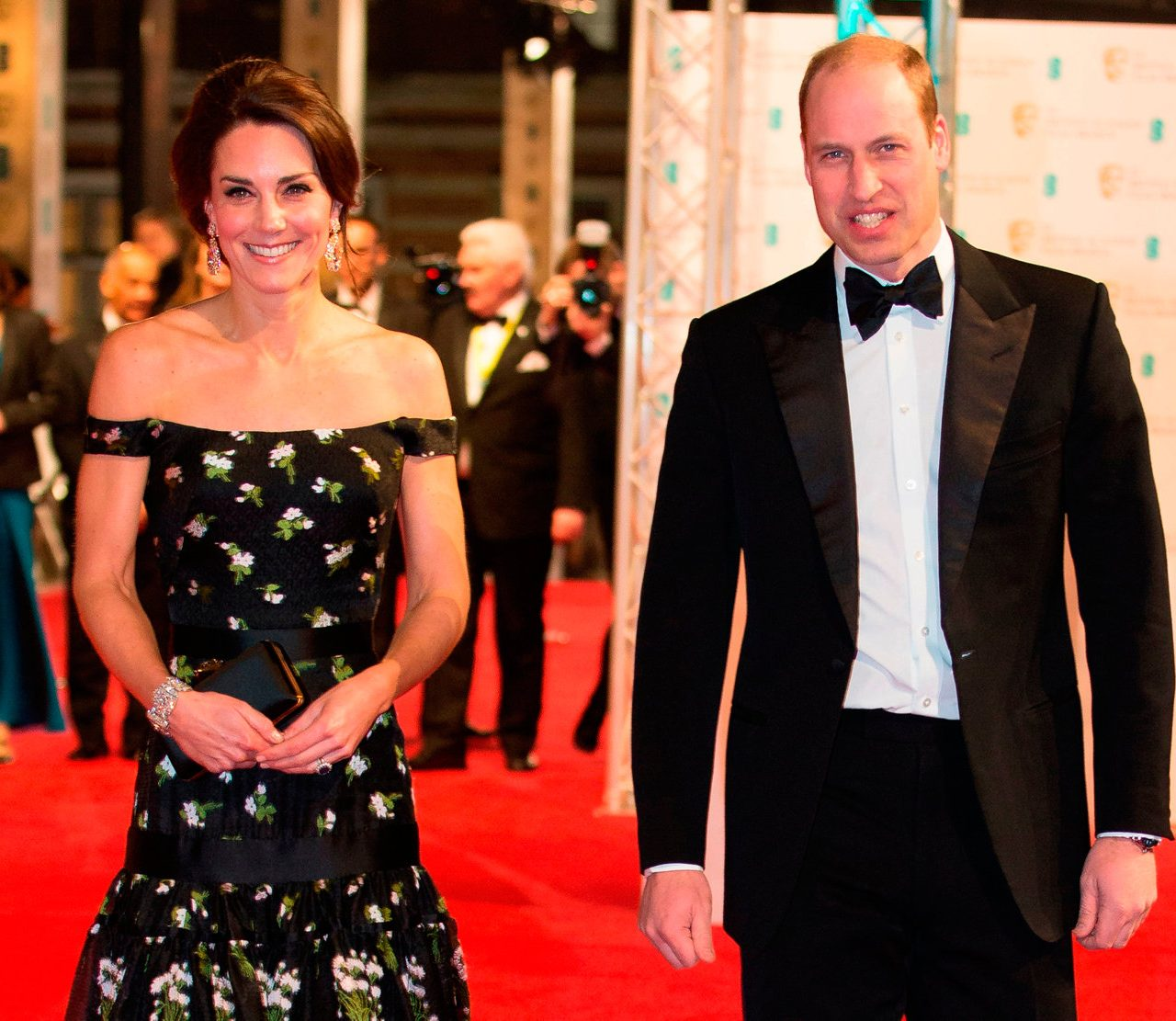 The Duke of Cambridge and the Duchess of Cambridge attended the British Academy Film Awards