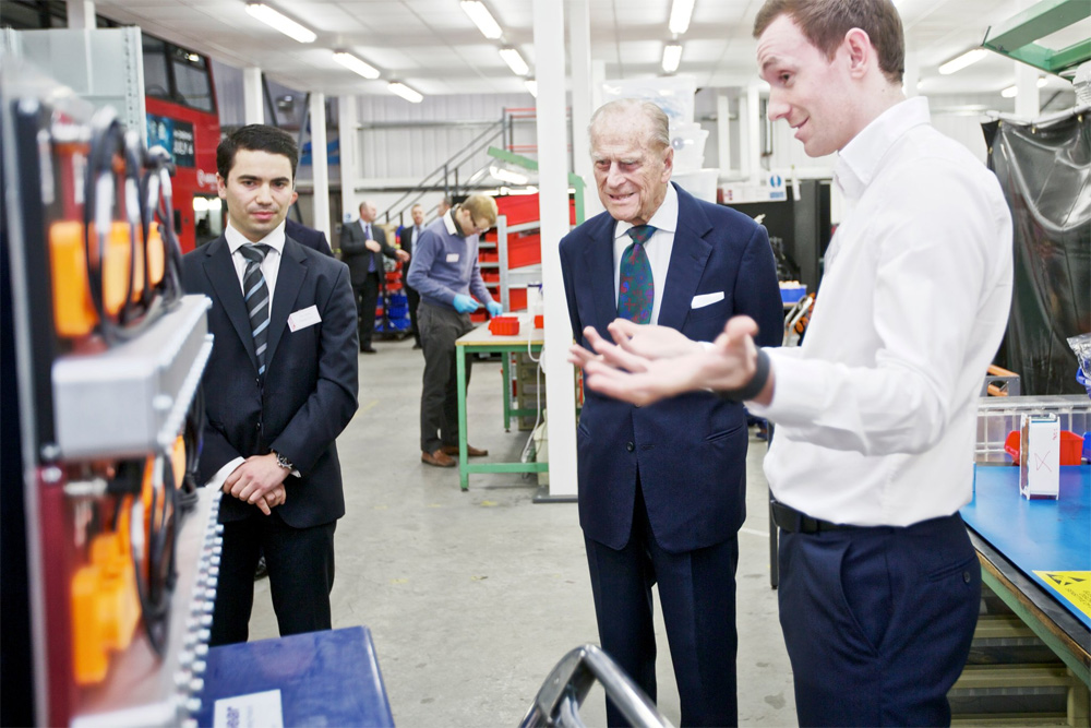 The Duke of Edinburgh this afternoon visited Vantage Power Limited, Greenford