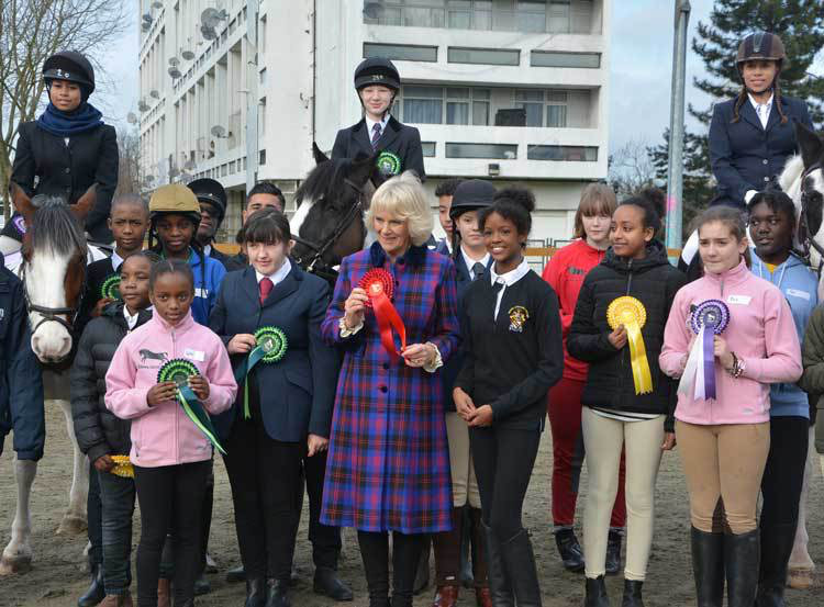 The Duchess of Cornwall, President, this morning visited the Ebony Horse Club