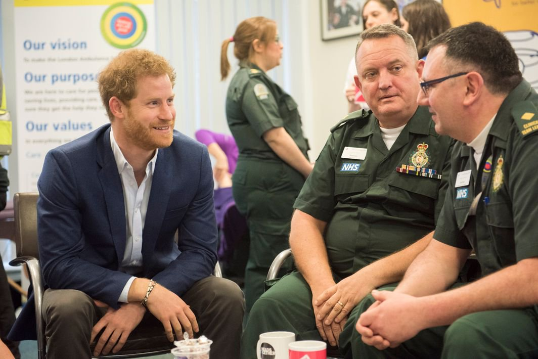 Prince Henry of Wales, this morning visited London Ambulance Service Headquarters