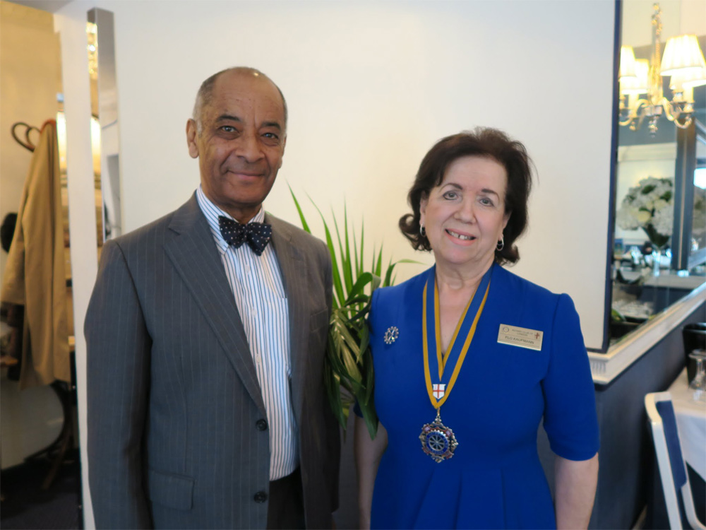 The Lord-Lieutenant of Greater London (Mr Kenneth Olisa) was the speaker at a luncheon held by the Rotary Club of London