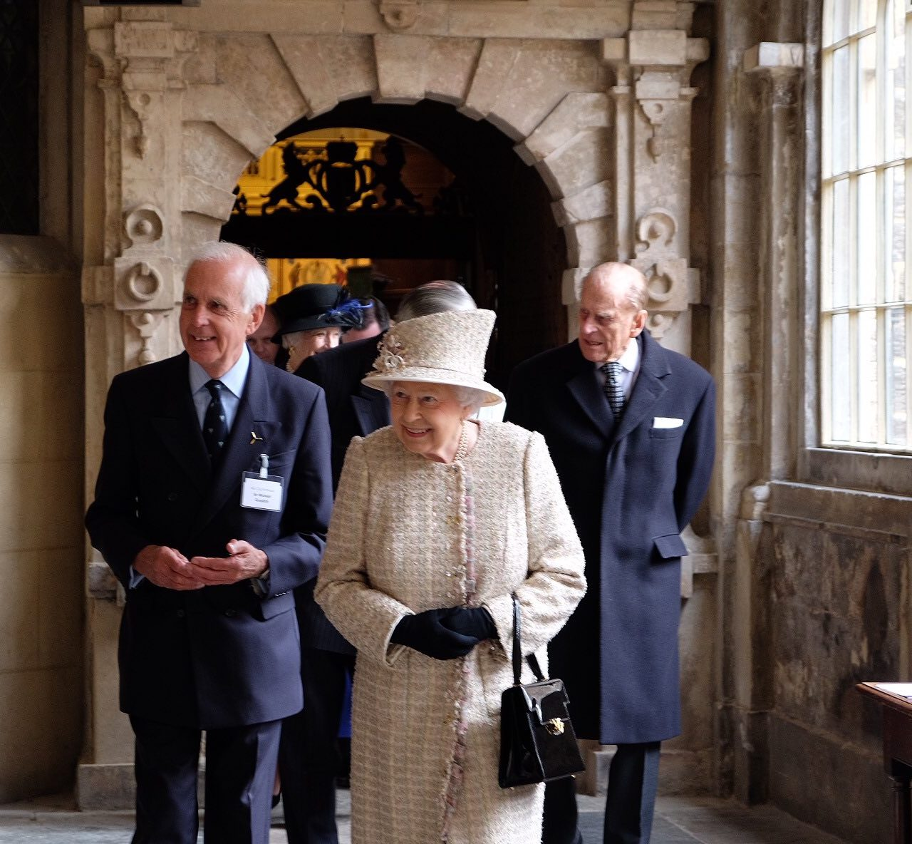 The Queen, accompanied by The Duke of Edinburgh, Royal Governors opened the new redevelopment at Sutton's Hospital