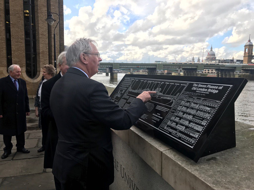 The Duke of Gloucester unveiled a panel at Montague Close to mark the Fortieth Anniversary of the Jubilee Walkway