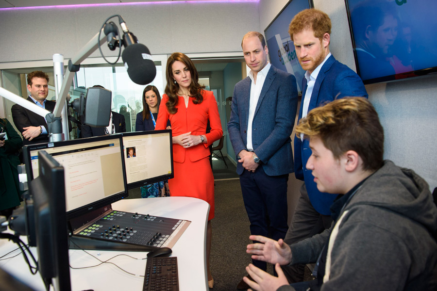The Duke and Duchess of Cambridge and Prince Henry of Wales opened the Global Academy