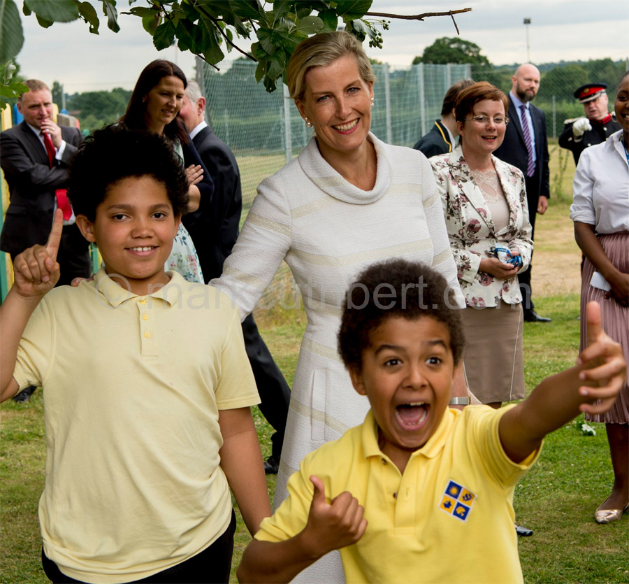 The Countess of Wessex visited Baston House School