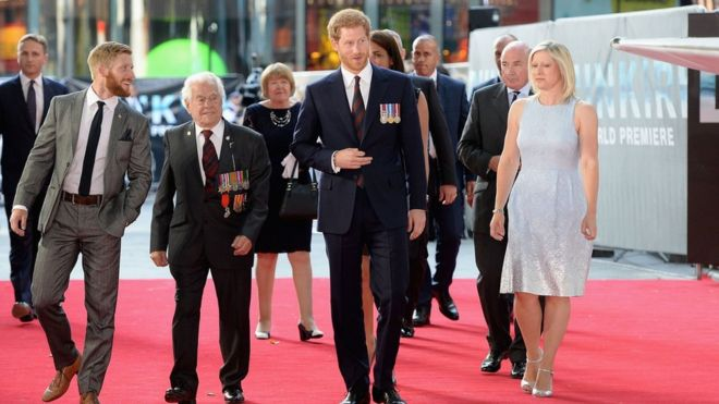 "Prince Henry of Wales attended the film premiere of ""Dunkirk"" at the Odeon Cinema, Leicester Square"