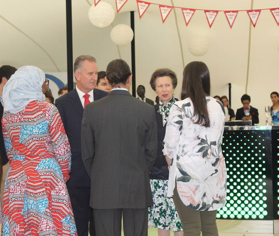 The Princess Royal attended a Garden Reception for International Students House