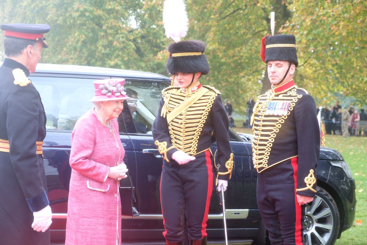 The Queen reviews The King's Troop Royal Horse Artillery