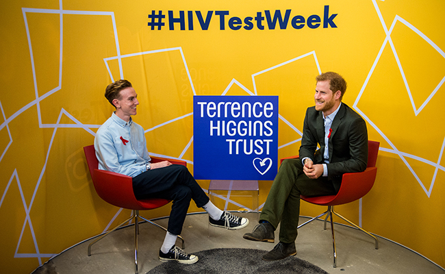Prince Henry of Wales attends the opening of the Terrence Higgins Trust HIV Testing Pop-up Shop