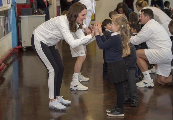 The Duchess of Cambridge visits Wimbledon Junior Tennis Initiative