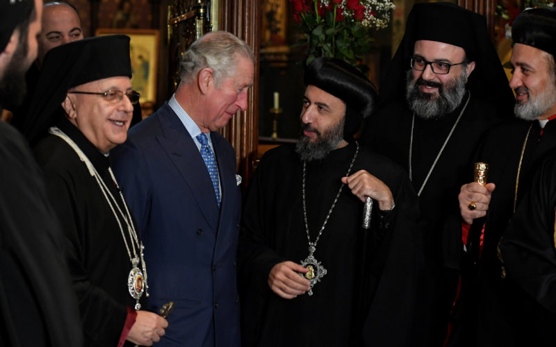 The Prince of Wales attends a Service with the Melkite Greek Catholic community at St. Barnabas Church