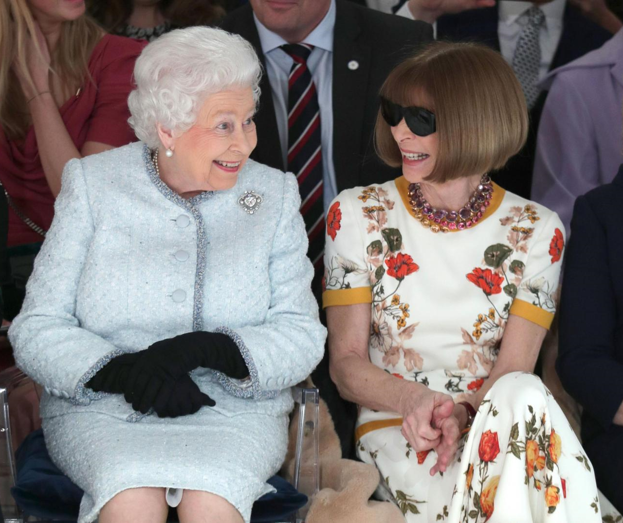 Her Majesty the Queen Attends London Fashion Week