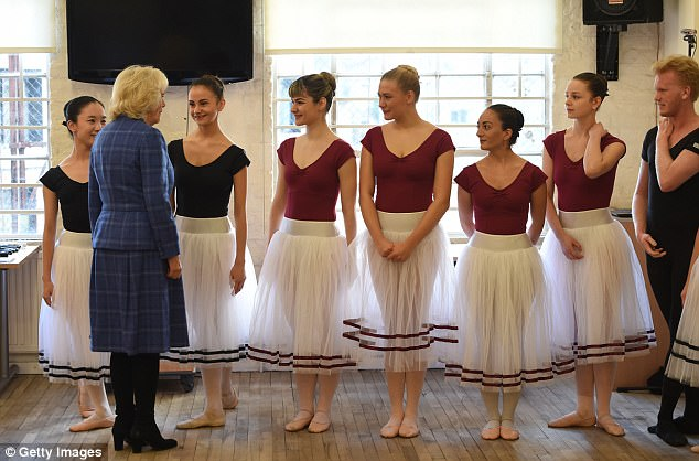 The Duchess of Cornwall attends the Royal Academy of Dance