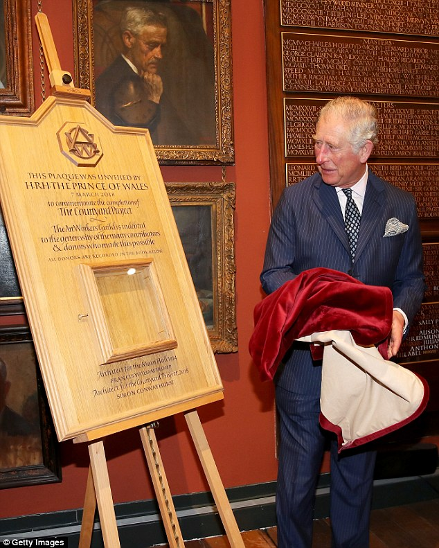 The Prince of Wales visits the Art Workers' Guild