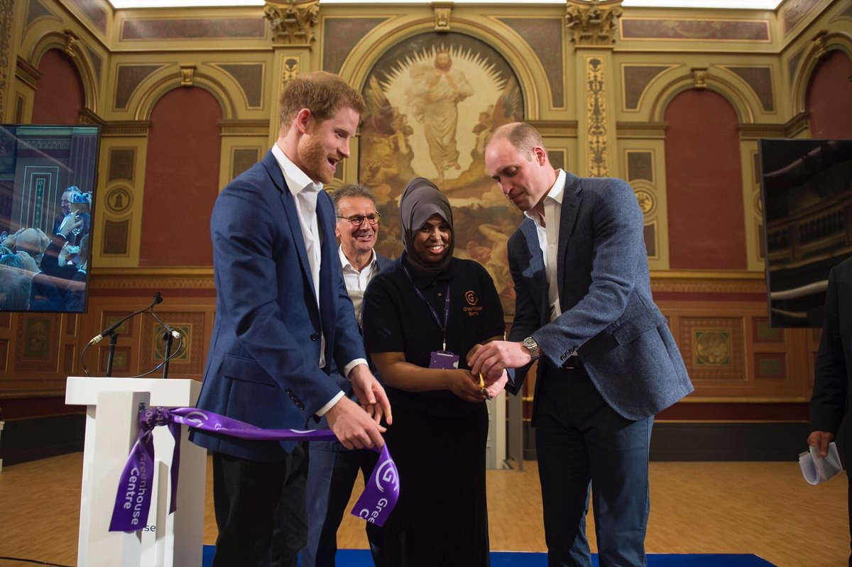 The Duke of Cambridge and Prince Henry of Wales opened the new greenhouse Centre