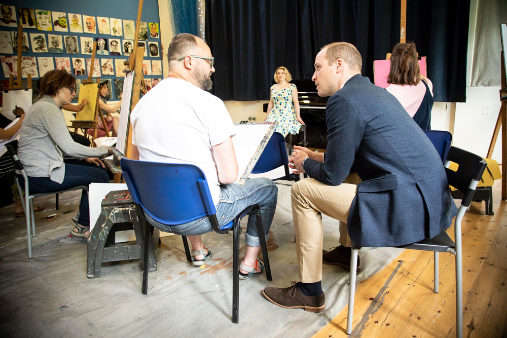 The Duke of Cambridge visits Core Arts