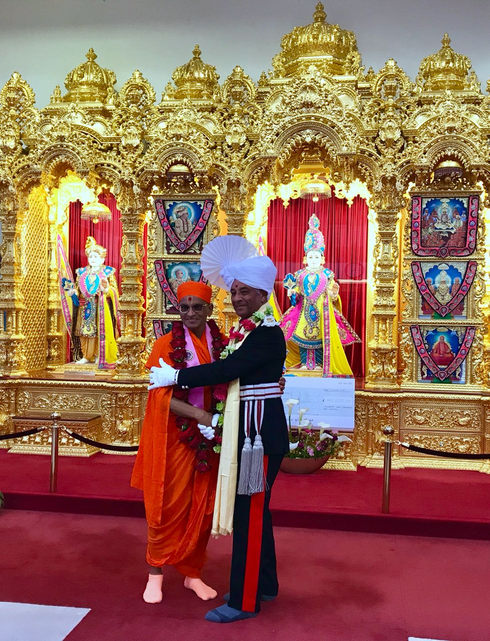 Sir Kenneth Olisa OBE met the global spiritual leader Acharya Swamishree Maharaj