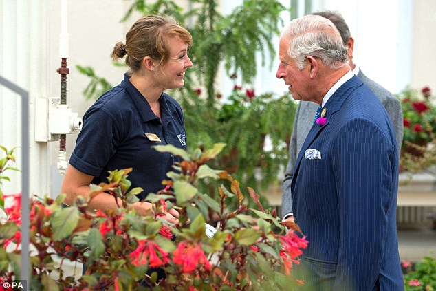The Prince of Wales visits the Royal Botanic Gardens