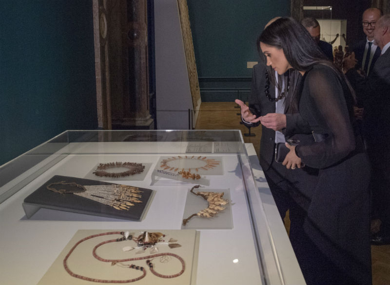 "The Duchess of Sussex attends the opening of the ""Oceania"" Exhibition"