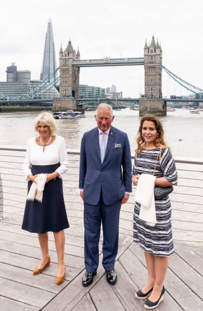 The Prince of Wales and The Duchess of Cornwall attends the launch of the renovated yacht MAIDEN
