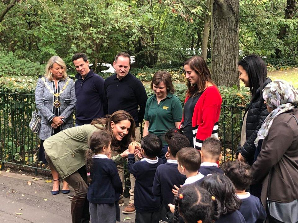 The Duchess of Cambridge Visits the Sayers Croft Wildlife Garden and Forest School