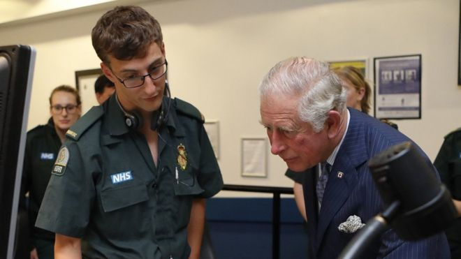 The Prince of Wales visits the London Ambulance Service Trust Headquarters